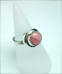 rhodocrosite & silver ring