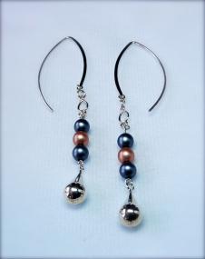 glass & silver earrings