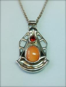 opal & silver pendant